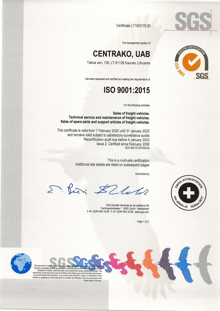 Centrako certificates 2019_Eng