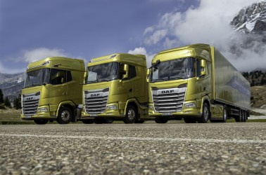 1. The New Generation DAF trucks 2021. From left to right XG+ XG and XF